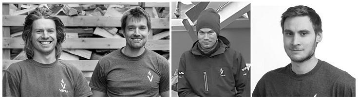Team Vepak: (fra venstre) Lars Martin Ranheim, Ole Holtet, Fredrik Johansen og Peter Britton